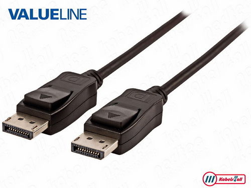 DisplayPort kabel 1,00 m zwart