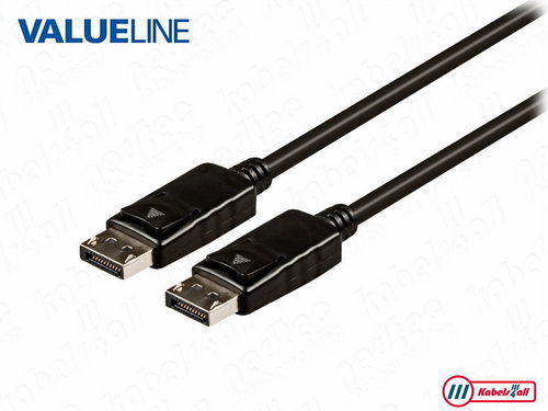DisplayPort 1.2 kabel 3,00 m zwart