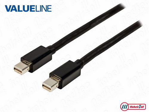 Mini DisplayPort kabel 1,00 m zwart